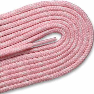 New Balance Round Athletic Laces - Pink/White (2 Pair Pack) Shoelaces from Shoelaces Express