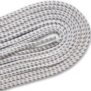 Reflective Round Athletic Laces - White (1 Pair Pack) Shoelaces from Shoelaces Express