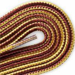 Red Wing Round Braided Taslan Laces - Gold/Tan (2 Pair Pack) Shoelaces from Shoelaces Express