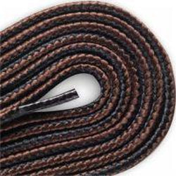 Red Wing Round Braided Taslan Laces - Black/Brown (2 Pair Pack) Shoelaces from Shoelaces Express