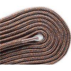 Red Wing Round Nylon Laces - Chocolate/Medium Gray Tracers (2 Pair Pack) Shoelaces from Shoelaces Express