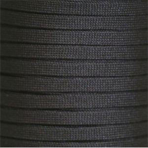 Spool - Flat Tubular Athletic - Black (144 yards) Shoelaces from Shoelaces Express