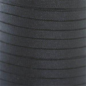 Flat Tubular Athletic Laces Custom Length with Tip - Black (1 Pair Pack) Shoelaces from Shoelaces Express