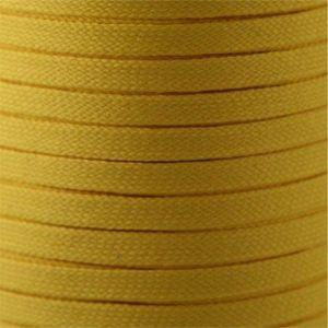 Flat Tubular Athletic Laces Custom Length with Tip - Gold (1 Pair Pack) Shoelaces from Shoelaces Express
