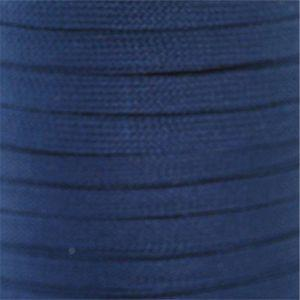 Flat Tubular Athletic Laces Custom Length with Tip - Navy (1 Pair Pack) Shoelaces from Shoelaces Express