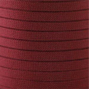 Flat Tubular Athletic Laces Custom Length with Tip - Maroon (1 Pair Pack) Shoelaces from Shoelaces Express
