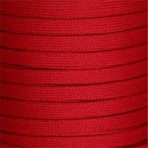 Flat Tubular Athletic Laces Custom Length with Tip - Red (1 Pair Pack) Shoelaces from Shoelaces Express