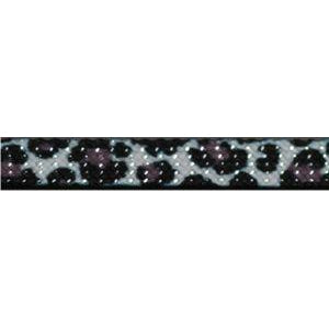Glitter Flat Cheetah Custom Length Black Metal Tip