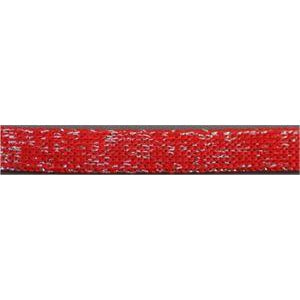 Metallic Flat Laces Custom Length with Tip - Red (1 Pair Pack) Shoelaces from Shoelaces Express