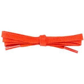 Waxed Cotton Flat Dress Laces - Citrus Orange (2 Pair Pack) Shoelaces from Shoelaces Express