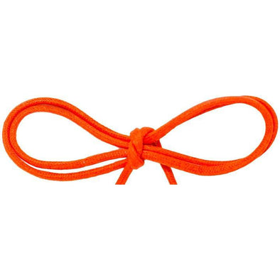 "Waxed Cotton Thin Round 1/8"" Dress Laces - Citrus Orange (2 Pair Pack) Shoelaces from Shoelaces Express"