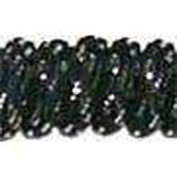 Curly Laces Black Metallic Silver 6""