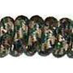 Curly Laces Black Camouflage 6""
