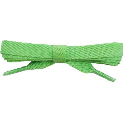 "Cotton Flat 3/8"" Laces Custom Length with Tip - Lime (1 Pair Pack) Shoelaces Shoelaces from Shoelaces Express"