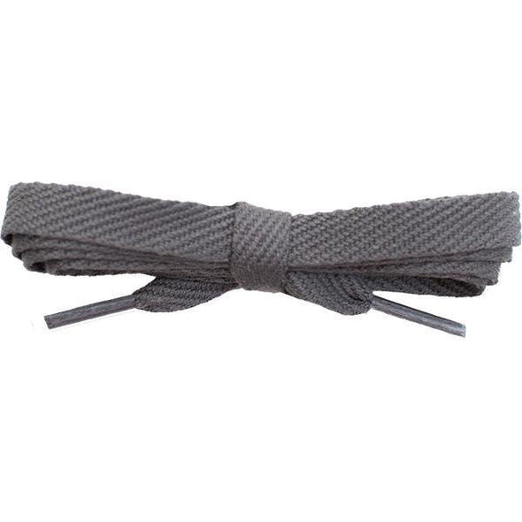 "Cotton Flat 3/8"" - Dark Gray (12 Pair Pack) Shoelaces Shoelaces from Shoelaces Express"