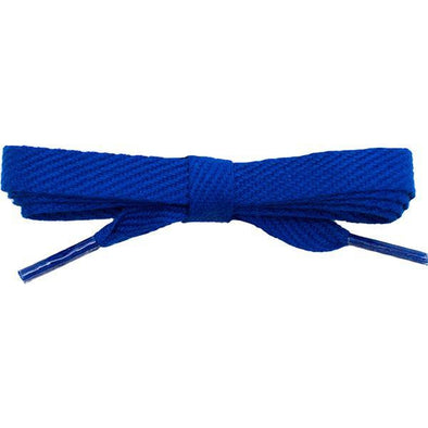 "Cotton Flat 3/8"" Laces Custom Length with Tip - Royal Blue (1 Pair Pack) Shoelaces Shoelaces from Shoelaces Express"