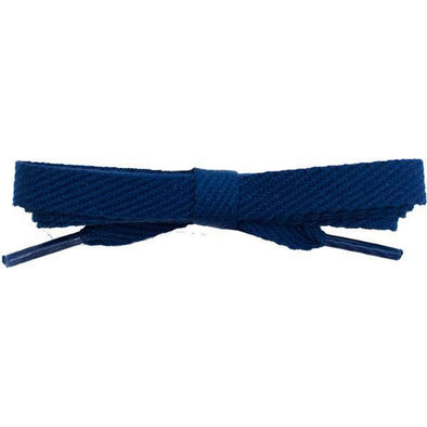 "Cotton Flat 3/8"" Laces Custom Length with Tip - Navy Blue (1 Pair Pack) Shoelaces Shoelaces from Shoelaces Express"
