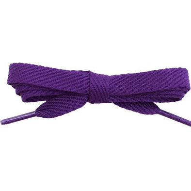 "Cotton Flat 3/8"" Laces Custom Length with Tip - Purple (1 Pair Pack) Shoelaces Shoelaces from Shoelaces Express"