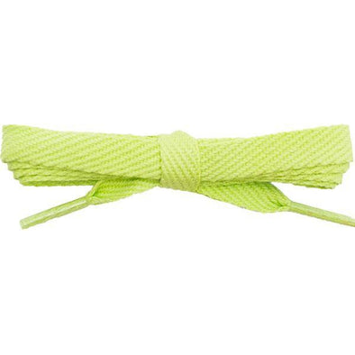 "Cotton Flat 3/8"" Laces Custom Length with Tip - Spring Green (1 Pair Pack) Shoelaces Shoelaces from Shoelaces Express"