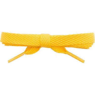 "Wholesale Cotton Flat 3/8"" - Gold (12 Pair Pack) Shoelaces from Shoelaces Express"
