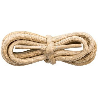 "Waxed Cotton 3/16"" Round Laces - Beige (2 Pair Pack) Shoelaces from Shoelaces Express"