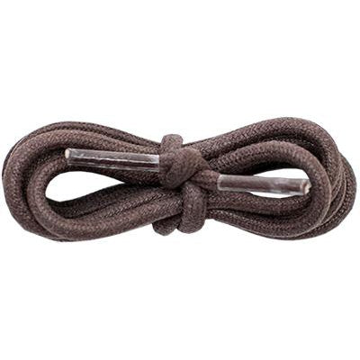 "Waxed Cotton 3/16"" Round Laces - Brown (2 Pair Pack) Shoelaces from Shoelaces Express"