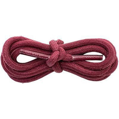 "Wholesale Waxed Cotton Round 3/16"" - Burgundy (12 Pair Pack) Shoelaces from Shoelaces Express"