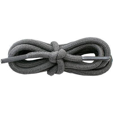 "Waxed Cotton Round 3/16"" - Dark Gray (12 Pair Pack) Shoelaces from Shoelaces Express"