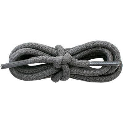 "Wholesale Waxed Cotton Round 3/16"" - Dark Gray (12 Pair Pack) Shoelaces from Shoelaces Express"