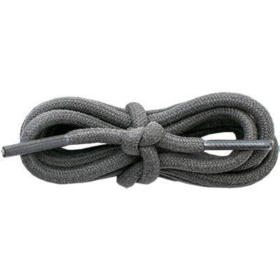 "Waxed Cotton 3/16"" Round Laces - Dark Gray (2 Pair Pack) Shoelaces from Shoelaces Express"