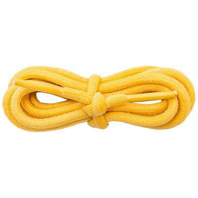 "Waxed Cotton 3/16"" Round Laces - Gold (2 Pair Pack) Shoelaces from Shoelaces Express"