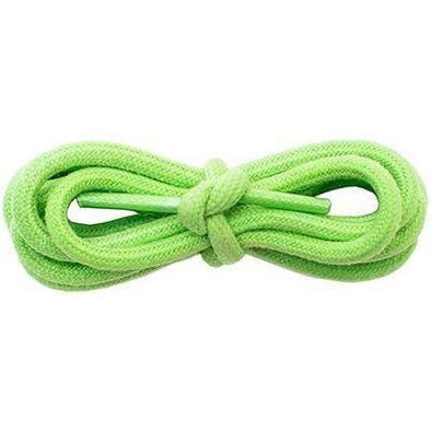 "Wholesale Waxed Cotton Round 3/16"" - Neon Green (12 Pair Pack) Shoelaces from Shoelaces Express"