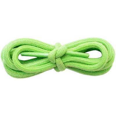 "Waxed Cotton 3/16"" Round Laces - Lime Green (2 Pair Pack) Shoelaces from Shoelaces Express"