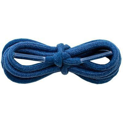 "Waxed Cotton 3/16"" Round Laces - Navy Blue (2 Pair Pack) Shoelaces from Shoelaces Express"