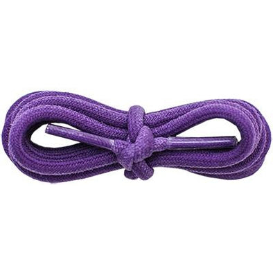 "Waxed Cotton 3/16"" Round Laces - Purple (2 Pair Pack) Shoelaces from Shoelaces Express"