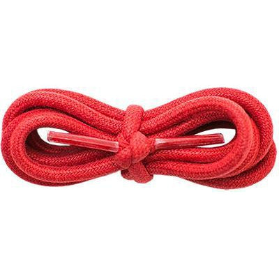 "Waxed Cotton 3/16"" Round Laces - Red (2 Pair Pack) Shoelaces from Shoelaces Express"