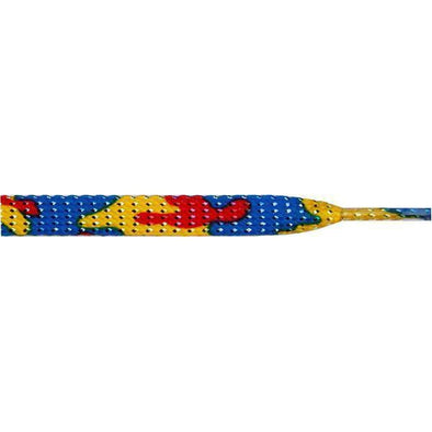 "Wholesale Glitter Flat 3/8"" - Colorful Camouflage (12 Pair Pack) Shoelaces from Shoelaces Express"