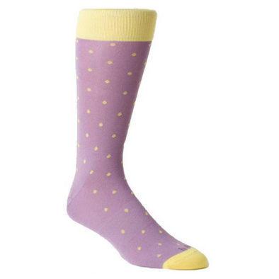 Hook + Albert Dress Socks - Meadow Polka Dots (1 Pair Pack) Shoelaces from Shoelaces Express