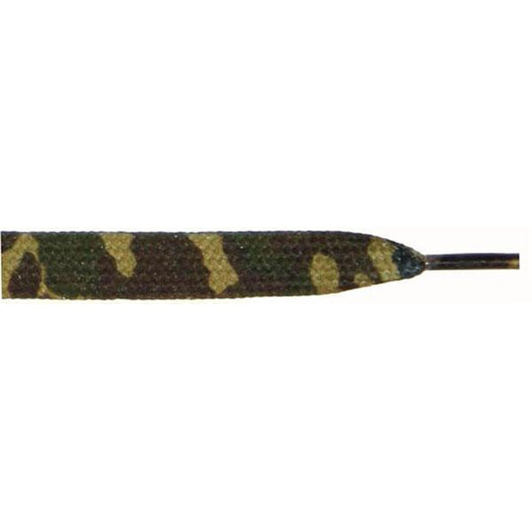 "Wholesale Printed Flat 3/8"" - Brown Camouflage (12 Pair Pack) Shoelaces from Shoelaces Express"