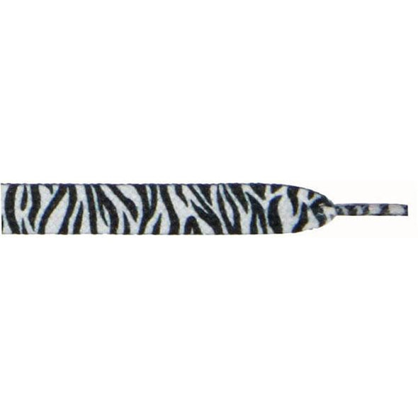 "Printed Flat 3/8"" - Zebra (12 Pair Pack) Shoelaces from Shoelaces Express"
