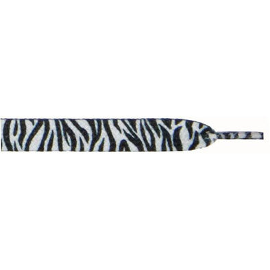 "Printed 3/8"" Flat Laces - Zebra (1 Pair Pack) Shoelaces from Shoelaces Express"
