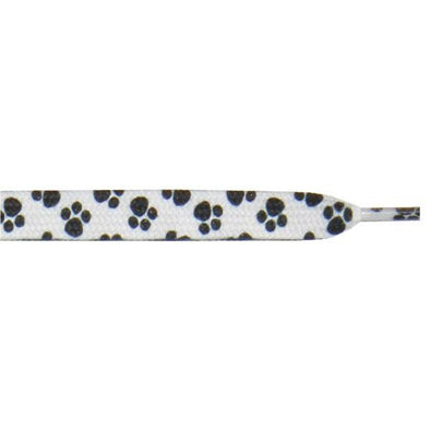 "Printed 9/16"" Flat Laces - Paw Print (1 Pair Pack) Shoelaces from Shoelaces Express"