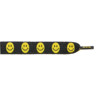"Printed Flat 3/8"" - Smiley Face (12 Pair Pack)"