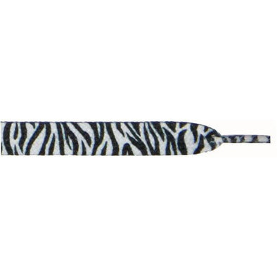 "Printed Flat 9/16"" - Zebra (12 Pair Pack) Shoelaces from Shoelaces Express"