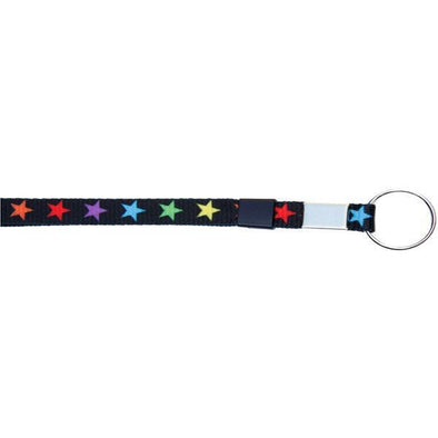 "Key Ring 3/8"" - Colorful Stars (12 Pack)"