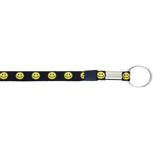 "Wholesale Key Ring 3/8"" - Smiley Face (12 Pack) Shoelaces from Shoelaces Express"