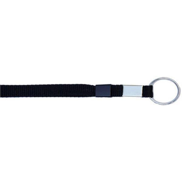 "Key Ring 3/8"" - Black (12 Pack) Shoelaces from Shoelaces Express"