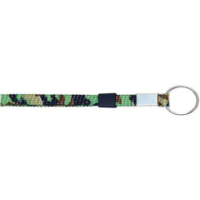 "Wholesale Key Ring Glitter 3/8"" - Green Camouflage (12 Pack)"
