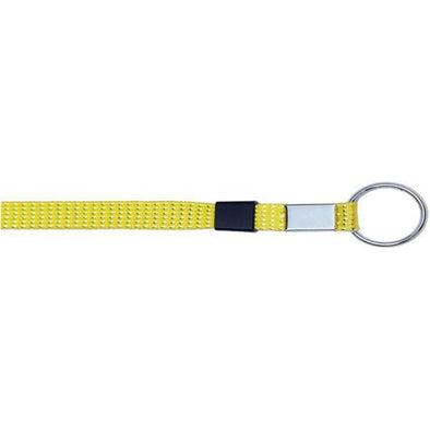 "Key Ring Glitter 3/8"" - Neon Yellow (12 Pack) Shoelaces from Shoelaces Express"