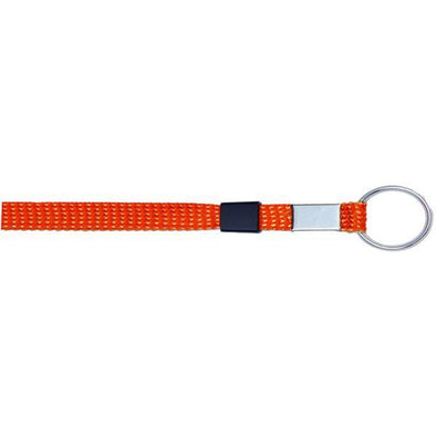 "Key Ring Glitter 3/8"" - Orange (12 Pack)"